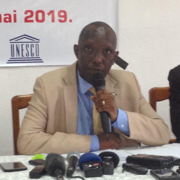 M. Fréderic Nahimana, le Ministre de la Communication et des Médias au Burundi.