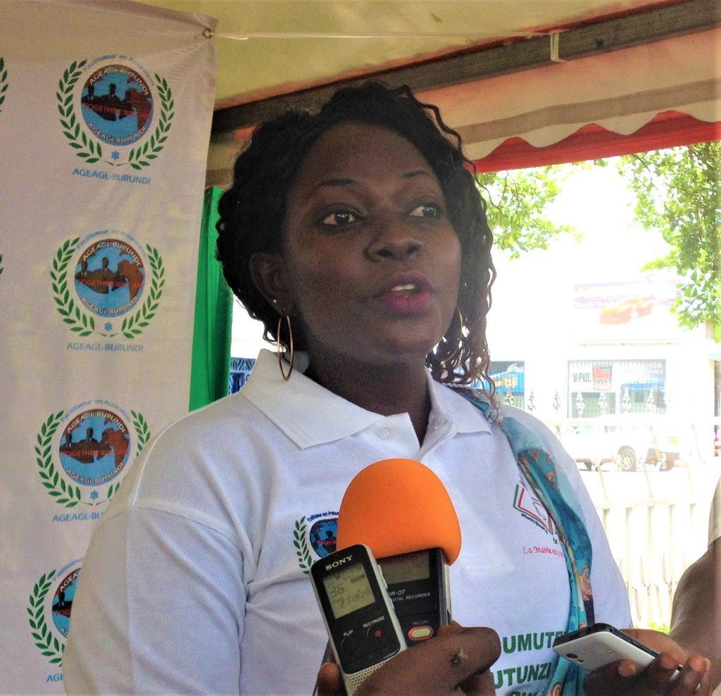 Mme Fidélité Ngenzi,DG de l'AGEAGL-Burundi
