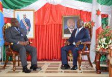 SE Pierre Nkurunziza à gauche et son Homologue SE Félix A. Tshisekedi à droite