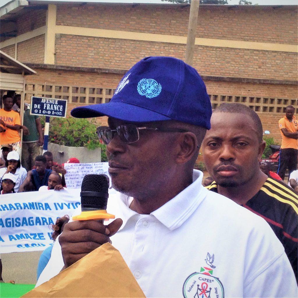 Hamza Vénant Burikukiye,Président de CAPS PLUS une des associations organisatrices des marches manifestations