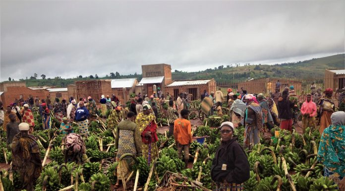 Photo d'ulistration des bananes prise au marché de Musenyi en commune Mabanda de la province Makamba Sud du pays