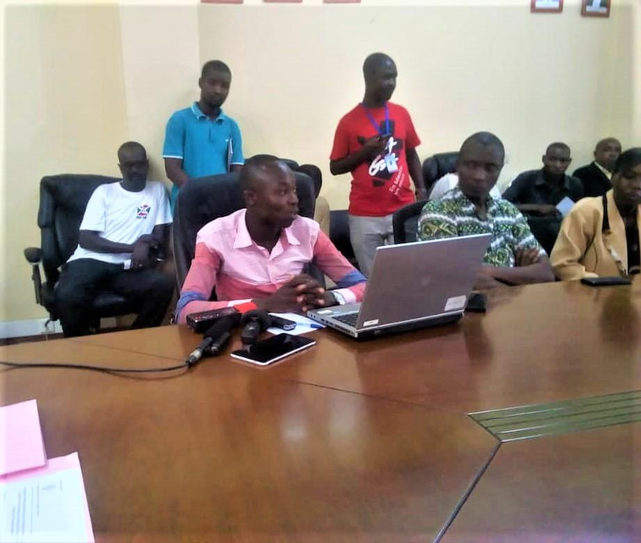 Iradukunda Dieu Merci, un élève du Lycée Kibenga