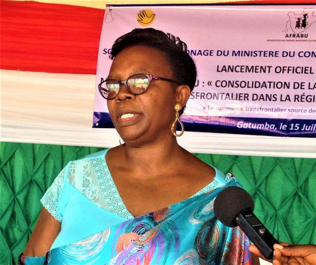 Mme Godelieve Manirakiza,Représentant Légale de l'AFRABU