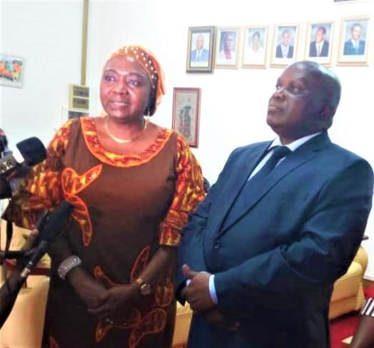 Mme Jennet Kem,Représentante de l'ONU-FEMMES au Burundi (au micro)