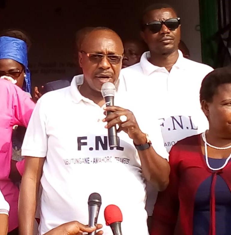 M.Jacques Bigirimana,Président du parti FNL