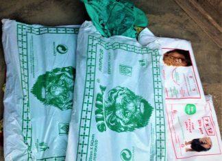 photo illustrative des sachets en plastique toujours en circulation au differents marchés du Burundi