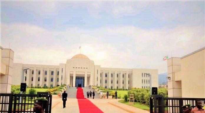 "L'infrastructure abritant le bureau présidentiel du Burundi baptisé"" Kwa Ntare Rushatsi Cambarantama"""