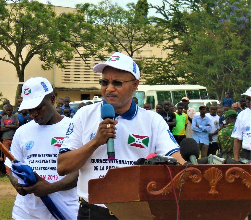 Le ministre de la sécurité publique et de la gestion des catastrophes, OPC Alain Guillaume Bunyoni
