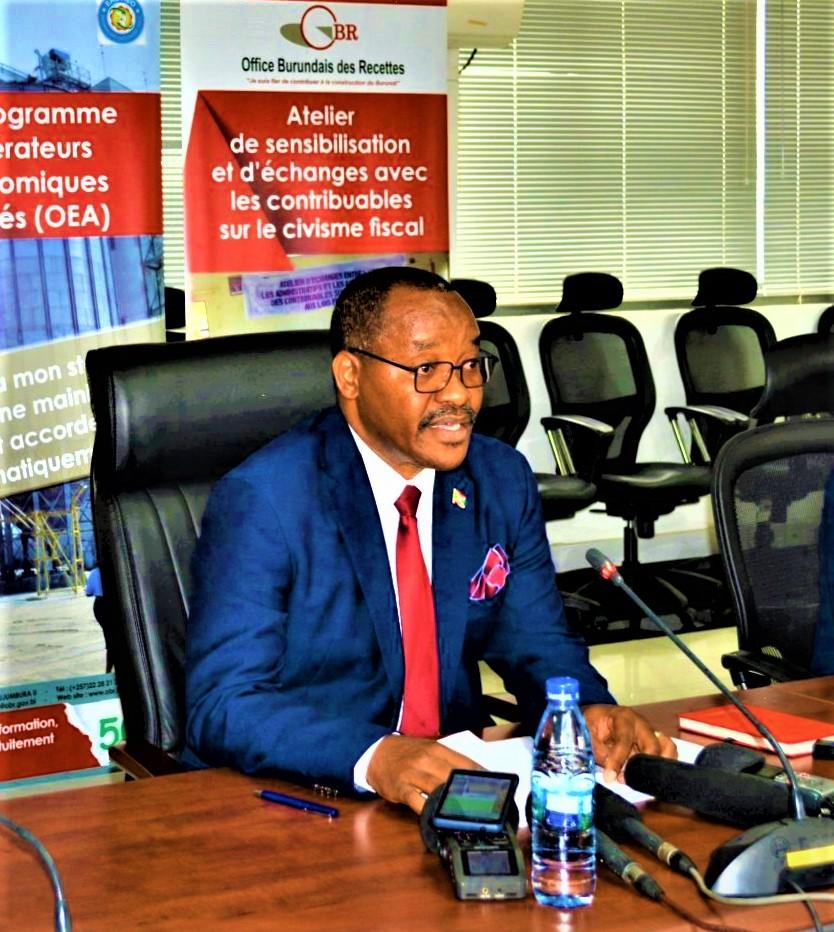 Audace Niyonzima,Commissaire Général de l'OBR