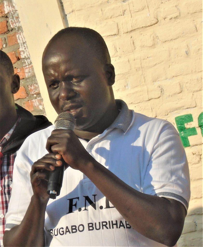 Prosper Nijimbere rprésentant provincial de parti FNL en province Bujumbura