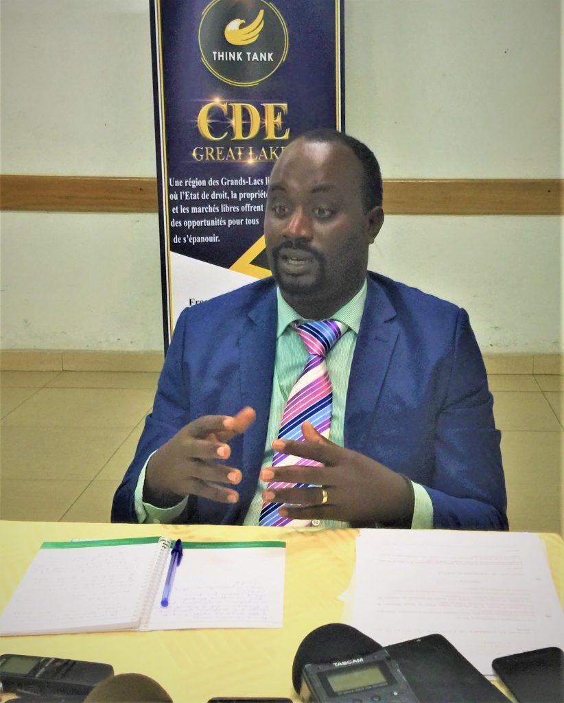 Dr Emery Nukuri,consultant du CDE