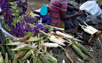 les femmes sont entrain de griller les maïs