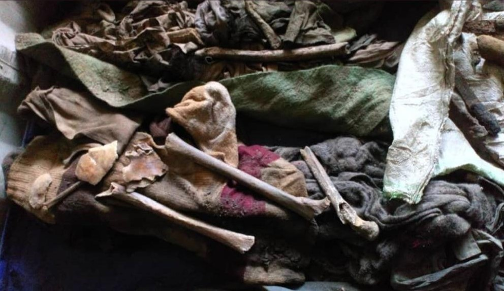 os déterrés à l'ex-marché de Kamenge