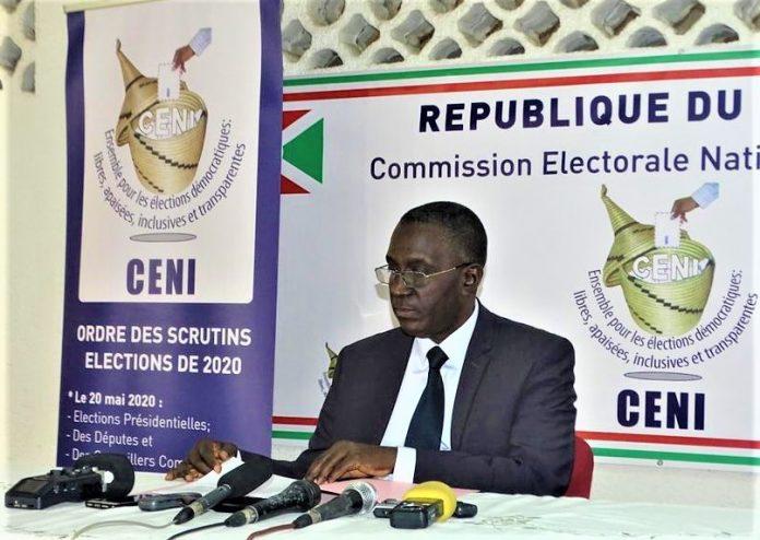 Dr Pierre Claver Kazihise,Président de la CENI (photo d'archive)