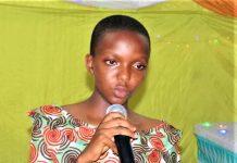 Huguette Igiraneza représentante des élèves du Lycée Saint Marc