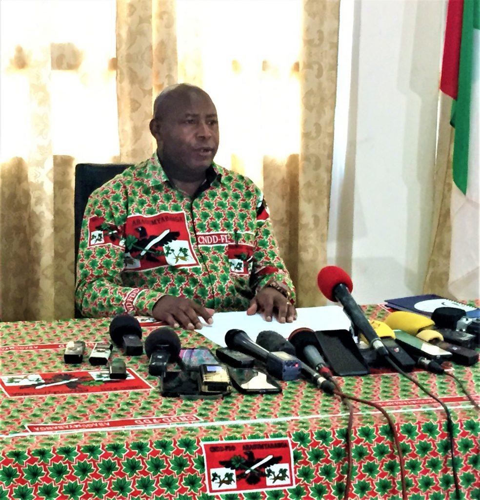 Maj. Gen. Evariste NDAYISHIMIYE,candidat présidentiel du CNDD-FDD