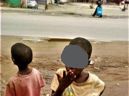 enfants en situation de la rue rencontrés en zone Ngagara2 de commune Ntahangwa en Mairie de Bujumbura