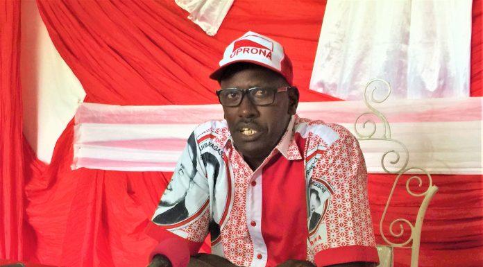 Abel Gashatsi,président du parti Uprona.