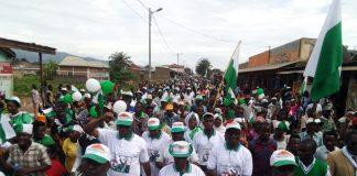 les Inziraguhemuka lors de la campagne électorale en mairie de Bujumbura