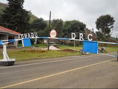 la frontière séparant la RDC et l'Uganda