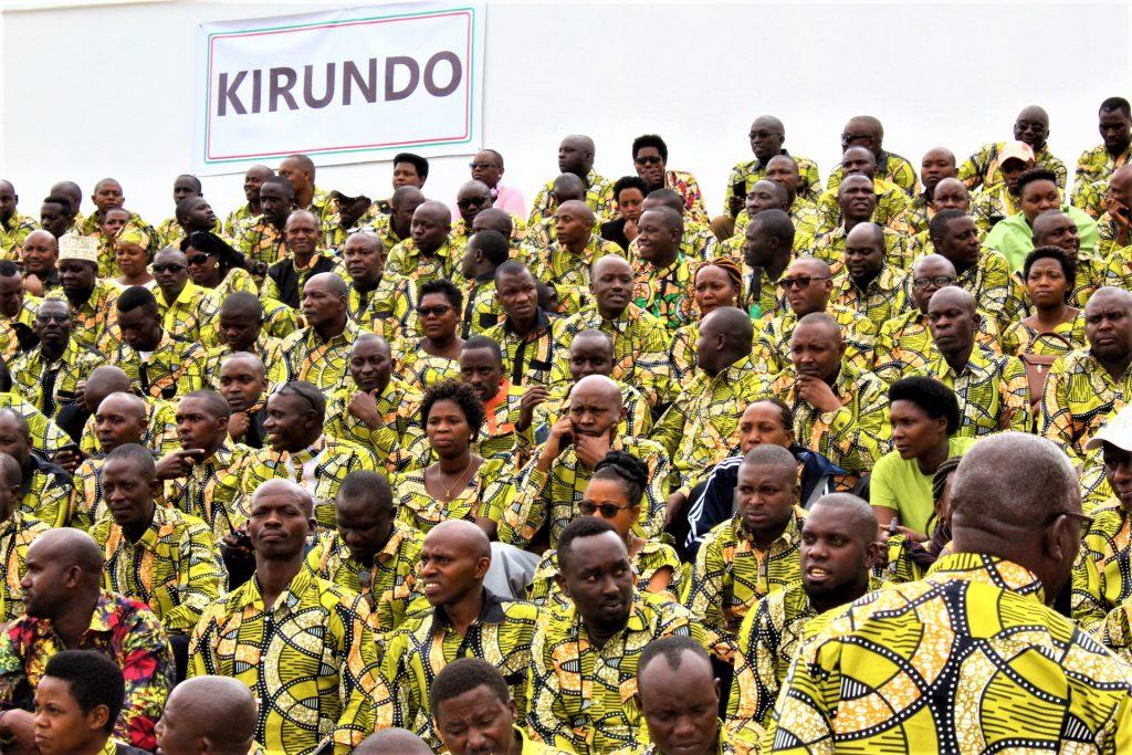 Les participants lors de l'investiture du président Evariste Ndayishimiye
