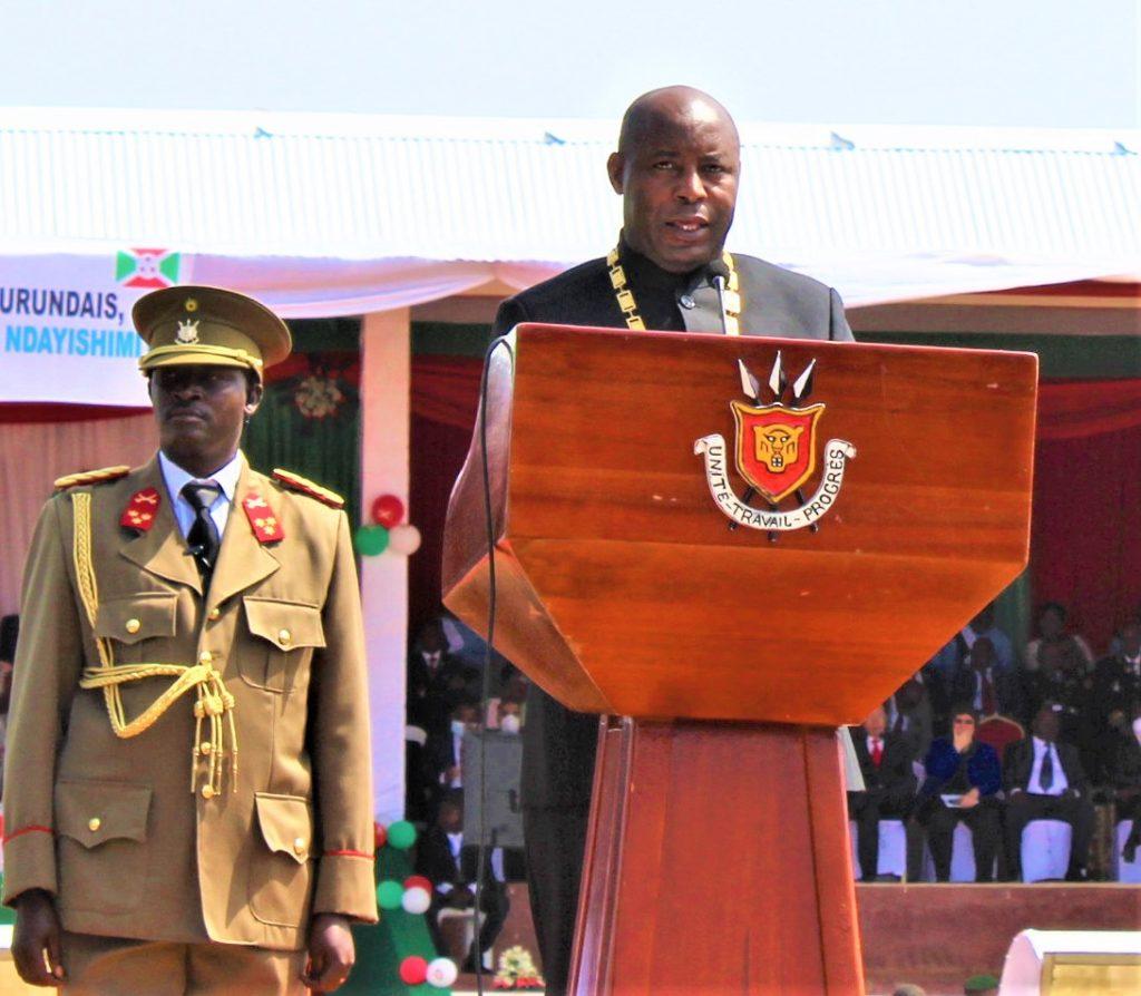 Evariste Ndayishimiye, le président de la République du Burundi