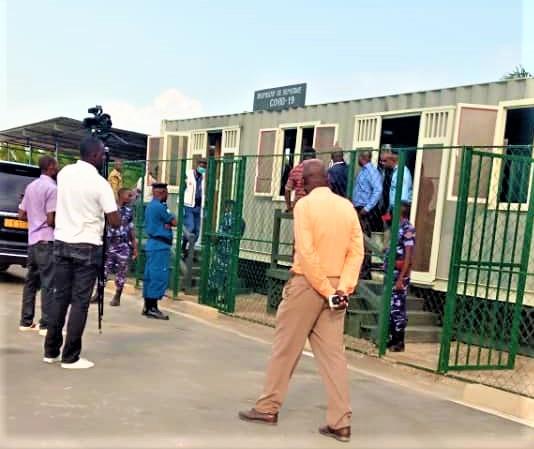 Site de dépistage rapide du covid19 consruit à la frontière burundo-congolaise