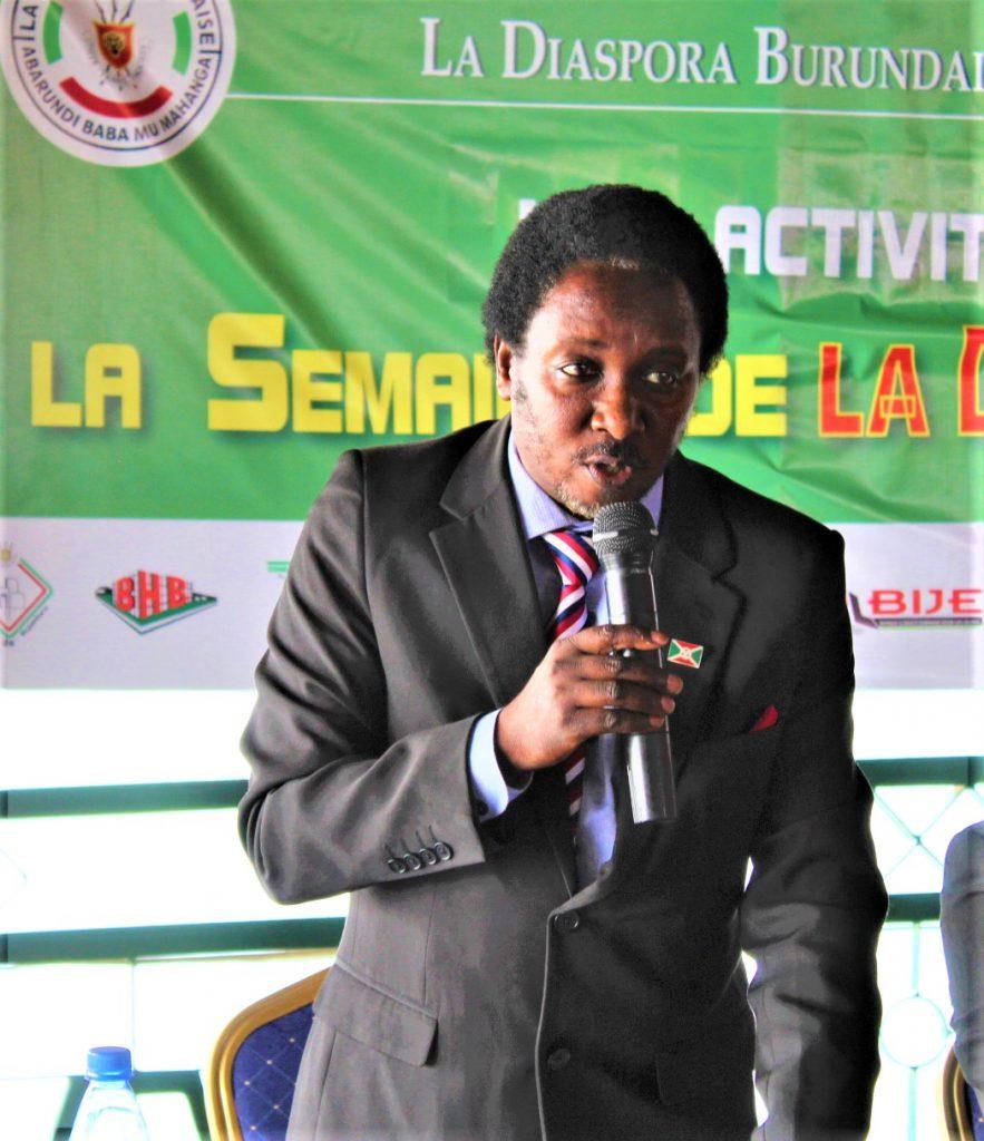 Japhet Legentil Ndayishimiye, président de la diaspora burundaise