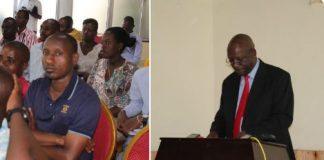 Ndayicariye Pierre Claver, président de la CVR lors de la conférence de presse